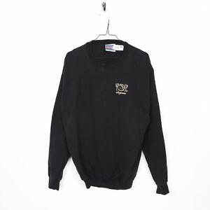 Vintage WEGMANS Graphic Sweatshirt Black Medium M