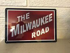 "Milwaukee Road Aluminum Fallen Flag Train Sign New DL 8""x12"""