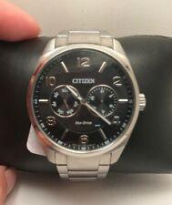 Citizen Eco-Drive Men's Grey Dial Silver-Tone Bracelet 43mm Watch AO9020-84E-H59