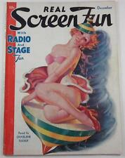 REAL SCREEN FUN MAGAZINE DEC 1935 EARLE BERGEY XMAS COVER GARTER BELTS LINGERIE