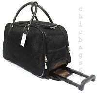 CABIN TRAVEL WHEELED LIGHTWEIGHT SUITCASE HAND LUGGAGE TROLLEY CASE  HOLDALL
