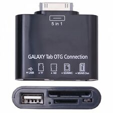 OTG USB Adapter und SD Kartenleser für Samsung Galaxy Tab, schwarz
