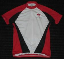 Voler Cycling Biking Zipper Short Sleeve Jersey Top Womens Large Back 3 Pockets