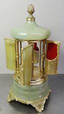 music box mechn. Spieluhr Zigarettenspender Spieldose Alabaster Italien ~50er
