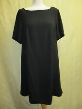 SIZE 20 LADIES BLACK FORMAL TUNIC DRESS - FLARED