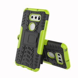 Case for LG V30 V40 V50 V35 ThinQ,Shockproof Armor Hybrid Kickstand Phone Cover