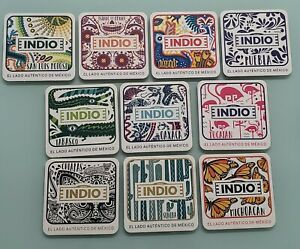 """MEXICO - 10 COASTERS - INDIO BEER - """" STATES """" - NEW SERIE"""