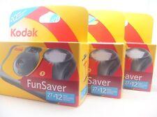 3 x kodak fun flash appareil photo jetable avec 39 photos de 1st classe royal mail