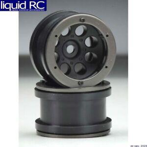 Axial Racing AX8097 2.2 8-Hole Beadlock Wheels Black (2)