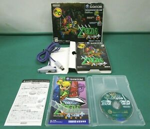 Game Cube The Legend of Zelda four swords adventures+ with GBA cable. JP 40502-2