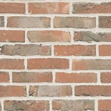 3D Brick Effect Wallpaper Slate Stone Rustic Paste The Wall Vinyl Orange Ugepa
