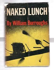 NAKED LUNCH by WILLIAM BURROUGHS 1959 1st EDITION SIGNED W/DJ  ADDICTION-DRUGS