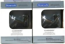 2 Amerock Clarendon Caramel Bronze Robe Hook Mount Template & Hardware Included