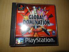 Global Domination Original Etiqueta Negra Playstation 1 PS1 Pal