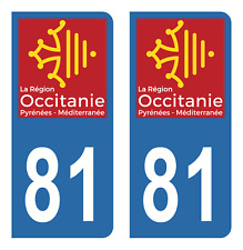 Autocollant Stickers plaque d'immatriculation véhicule auto département 81 Tarn