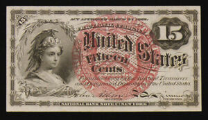 1863 AU 15 Cent Fractional  FR-1267 4th Issue American Bank Note Company NICE!!