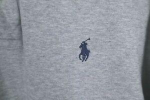 Polo Ralph Lauren Mens sz Large Grey Soft Cotton Long Sleeve Shirt Blue Pony