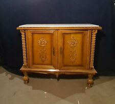 More details for antique dutch marble top sideboard cupboard