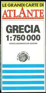 Grecia - Carta 1:750.000 - Istituto Geografico De Agostini