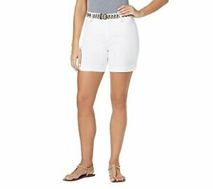 Bandolino Petites' Belted Twill Shorts