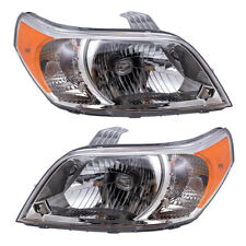 Halogen Headlights Set fits 2009 Chevrolet Aveo5 Pair Combination Headlamp Lens