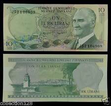Turkey Paper Money 10 Lirasi 1980 UNC