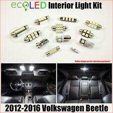 For 2012-2016 VW Volkswagen Beetle WHITE LED Interior Light Accessories Kit 5 PC