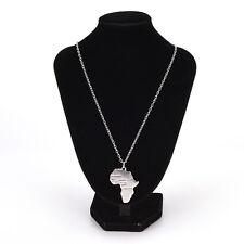 Africa Map Pendant Necklaces Women/Men Silver/Gold Color Ethiopian Jewelry RRTY