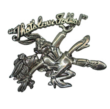 New listing Wb Looney Tunes 1994 Silver Brooch Bugs & Lola Bunny Dancing That's Love Folks!