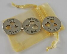 Pocket All My Love Tokens - Set of 3 with Organza Bag