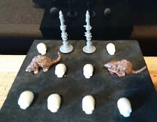 HeroQuest Altar Candlesticks Fully Intact Rats & Skulls Hero Quest Spares