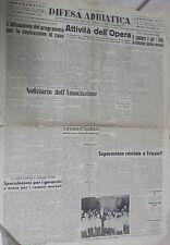DIFESA ADRIATICA 18 Luglio 1953 Opera per i profughi Abbazia Zona B Calestani di