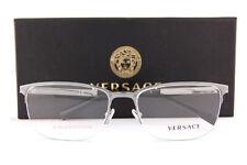 Brand New VERSACE Eyeglass Frames VE 1263 1001 Gunmetal For Men Size 55mm