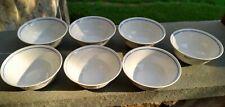 "Set of 7 Vista Alegre Ruban Blue Coupe Cereal Bowls 5 3/8"""