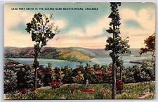 Lake Fort Smith in the Ozarks near Mountainburg, Arkansas Linen Postcard