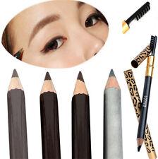 Make Up Leopard Long lasting Brown Eyeliner Eyebrow Pencil With Brush Waterproof