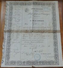 More details for french empire passport for foreign travel from france to buenos aires june 1860