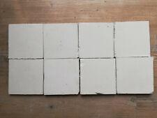 Antike Holländische Delft Fliesen Kachel Tile, 8 Stück, weiß