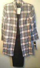 John Meyer NWT womens size 16 houndstooth wool suit jacket pants vintage classic