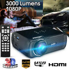 LED 3D 3000 Lumens HDMI HD Proyector 1080P Mini Cine Casa USB TV VGA SD PC
