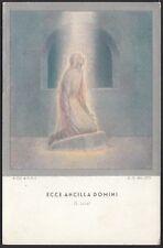 AX3093 Ecce Ancilla Domini (San Luca) - G. E. Galizzi  - Cartolina postale