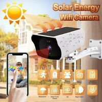 1080p Solar Powered Wireless Waterproof Night Vision Camera Battery Not Included