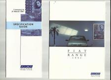 FIAT PANDA, UNO, TIPO TEMPRA AND CROMA SALES BROCHURE PLUS SPECIFICATIONS 1991