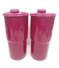 2 New Tupperware ThirstQuake Mega Tumbler Seal&Flip-Top Spout 30oz Radish Purple