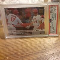 2018 Now Moment of the Week Gold /733 Shohei Ohtani Mike Trout PSA 10 Rookie