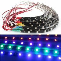 "New 2Pcs 12 LEDs 30cm/11.8"" 5050 SMD LED Strip Light Waterproof 12V Car Decor"