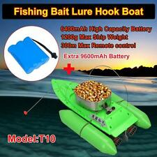 T10 Mini RC Fishing Bait Lure Carp Boat 5Hours Sailing Time+9.6A 9600mAh Battery