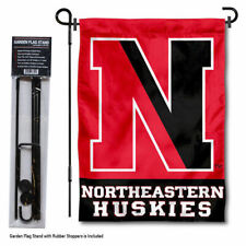 Northeastern Huskies Garden Flag and Yard Stand Included