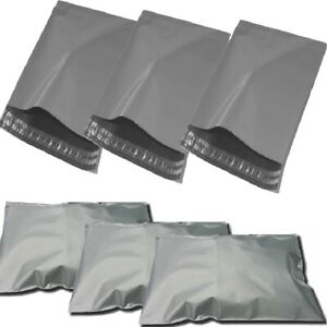 """50 BAGS - 12"""" x 16"""" STRONG POLY MAILING POSTAGE POSTAL QUALITY SELF SEAL GREY"""