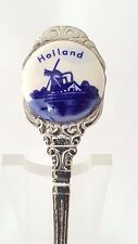 VINTAGE HOLLAND ENAMEL SOUVENIR SPOON